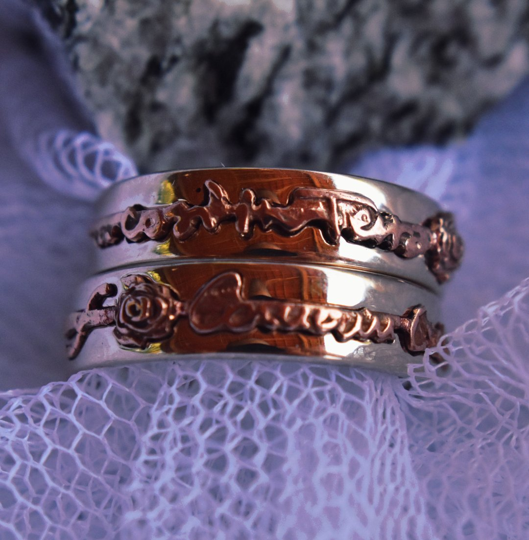 Castle in Space Custom Creation - WeddingRings